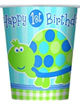8 FIRST BDAY TURTLE 9OZ CUP