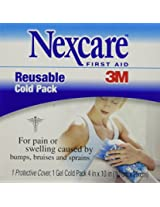 Nexcare Reusable Cold Pack, 1-Count Boxes (Pack of 4)