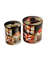 Indian Handicrafts Cupcake Theme Round Tin Canisters