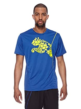 Puma Trainings T-Shirt CT Graphic Cat (monaco blue-sulphur spring)