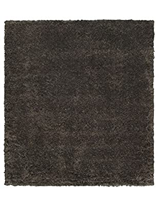 Hand-Knotted Casablanca Retro Shag, Black/Brown/Gray, 8' 2