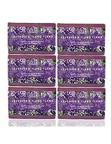 Lass Naturals Lavender Ylang Ylang Handmade Soap (Pack of 6)