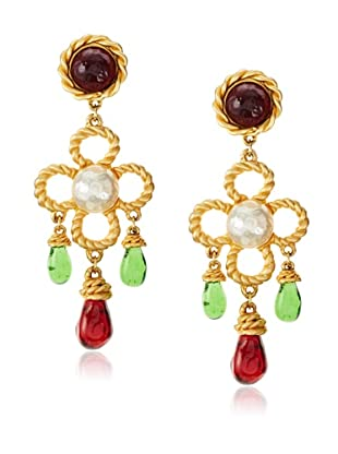 CHANEL Oversized Runway Gripoix Earrings