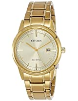 Citizen Analog Gold Dial Men's Watch - AW1232-55P