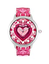 Betsey Johnson Betseyville Crystal Accent Heart WatchTie Dyed Pink