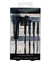 Danielle Enterprises Gallery Collection 5 Piece Makeup Brush Set, Black Swirl