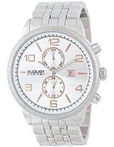 August Steiner Men's AS8069SS Multi-Function Swiss Quartz Bracelet Watch