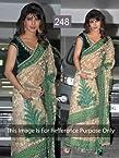 Priyanka Chopra In Embellished Floral Work Saree With Velvet Blouse