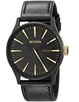 Nixon Men's A1051041 Sentry Leather Watch