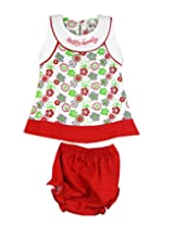 Ssmitn Baby Wear Hello Family Red Frock For Girls