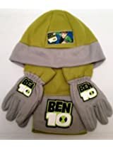 Ben 10 : Fleece Wooly Hat Scarf And Glove Set