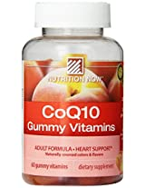 Nutrition Now Coq10 Gummy Vitamins, 60 Count