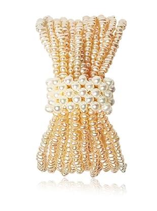 Alraune Armband Perlen Elastisch 12-reihig pfirsich