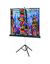 Luzon Dzire Tripod Type Projector Screen 8X6 Ft.(IN IMPORTED HIGH GAIN FABRIC A+++++ GRADE)