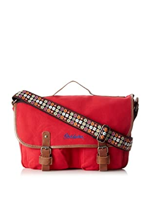 Robert Graham Men's Atkins Canvas Messenger Bag (Red)