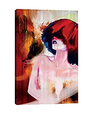 Robert Tirado Fire Hair Giclée on Canvas