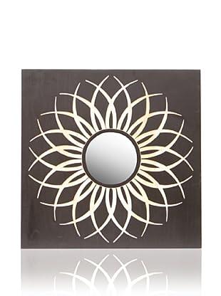 Palecek Dahlia Mirror, Black