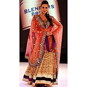 Malaika Arora In Golden Lehenga At Walked The Ongoing Fashion Tour