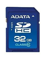 ADATA 32GB Class 10 SDHC Flash Memory Card ASDH32GCL10-R