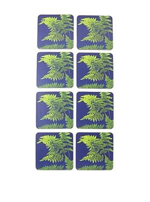 rockflowerpaper Set of 8 Lady Fern Drink Coasters