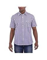 Barrier Reef Men's Slim Fit Shirt(Purple,Xl)