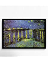 Starry Night Over the Rhone by Vincent van Gogh Framed Poster