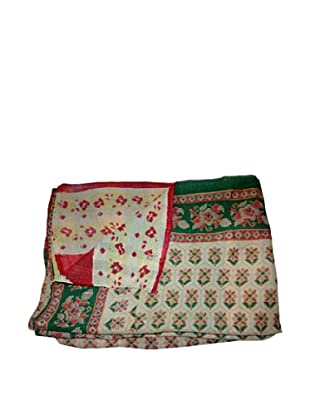 Vintage Lavanya Kantha Throw, Multi, 60