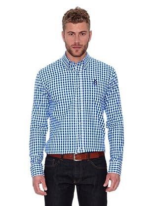 CLK Camisa Woven (Azul / Blanco)