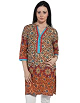 Bombay fashions boarder printed long kurti
