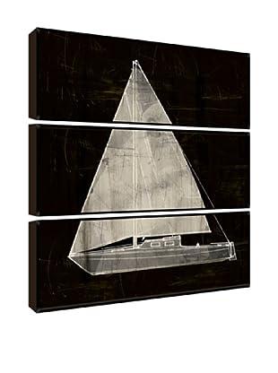 Black and White Sailboat Giclée Triptych Box