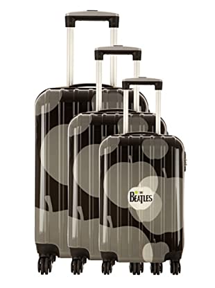 Les Beatles by Platinium Set 3 Trolleys 4 Ruedas Apple (Negro)