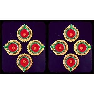 Hued Diwali Lamps Festive Jewel Combo