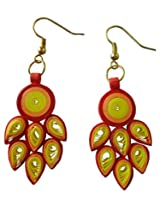 Designer's Collection Paper Quilling Ear Rings for Women-DSERB002_B