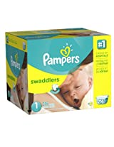 Pampers Swaddlers Diapers Pack of 216 Size 1 for Baby weight 4~6 kgs or 8~14 lbs