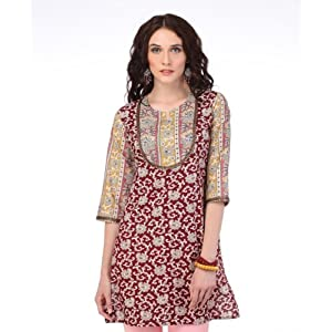 Yepme Agatha Maroon and Yellow Kurti
