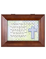 Baptismal Prayer for a Sweet Boy Wood Finish Jewelry Music Box - Plays Tune You Are My Sunshine