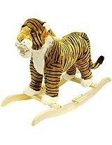 Happy Trails Plush Rocking Animal Tiger