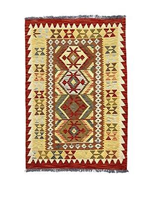 Eden Teppich Kilim-P rot/mehrfarbig 100 x 146 cm