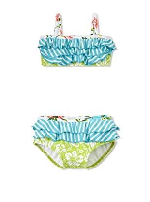 Azul Swimwear Girl's Going Green Bikini (Green)