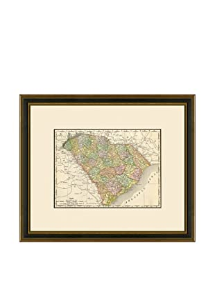 Antique Lithographic Map of South Carolina, 1886-1899