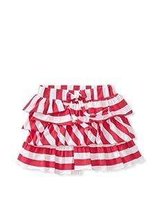 Sonia Rykiel Girl's Stripe Ruffle Skirt (Red/White)