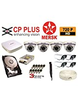 8 CH CP PLUS HD DVR + HD 1320 TVL MERSK DOME CAMERA + 4 HD 1320 TVL MERSK BULLET CAMERAS + 1 TB HARD DISK + 12 VOLT POWER SUPPLY + 16 BNC CONNECTORS + AUDIO MIC .(CAMERAS ARE NOT OF CP PLUS BRAND THEY ARE OF MERSK COMPANY MADE IN TAIWAN) NO INSTALLATION SERVICE