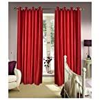 Mebelkart Beautiful Crush Curtain- Maroon