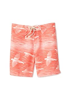 Strong Boalt Men's Flying Fish Classic Boardshorts (Fire Coral)