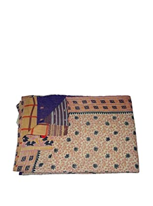 Large Vintage Lavanya Kantha Throw, Multi, 60