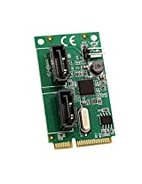 Syba 2 Port SATA III Mini PCIe Card Components Other (SD-MPE40056)