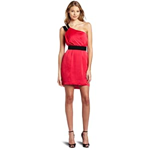 BCBGeneration Women's Pink Elastic Back Dress