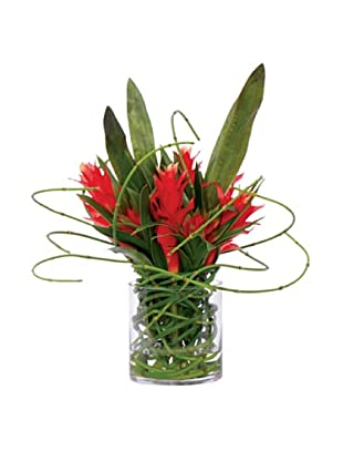 Lux-Art Silks Ginger Horsetail Waterlike, Red/Green