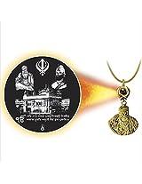 Dijyo Divine Darshan Golden temple with Guru nanak ji pendant For Unisex(SGP61GT)