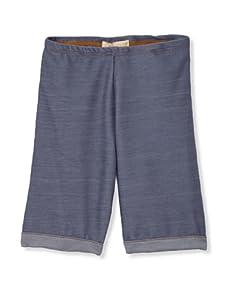 Lunchbox Girl's Denim Jersey Bermuda Shorts (Vintage Wash)